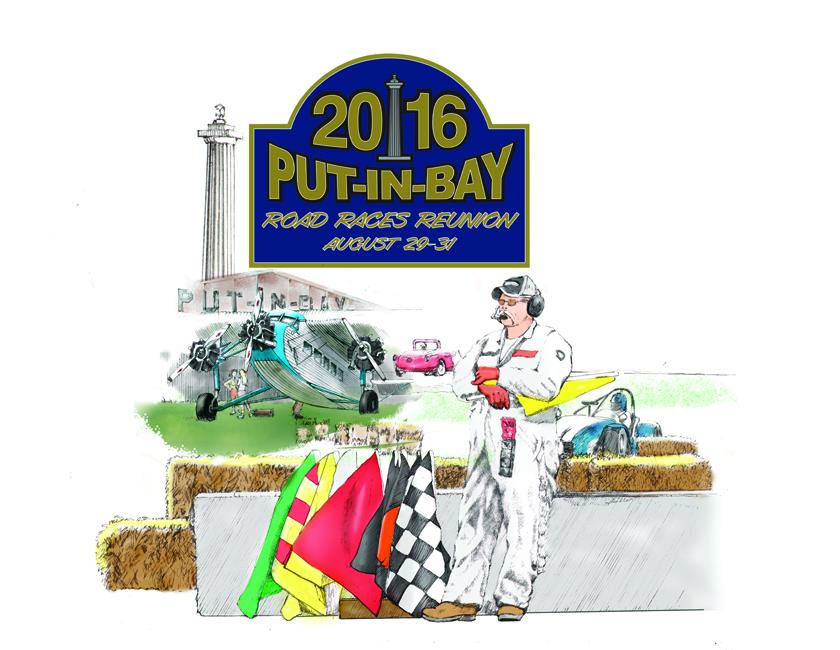 Peter Huston Art w: Put-in-Bay Road Races Renunion