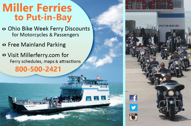 Ohio Bike Week Put-in-Bay Ferry Discounts